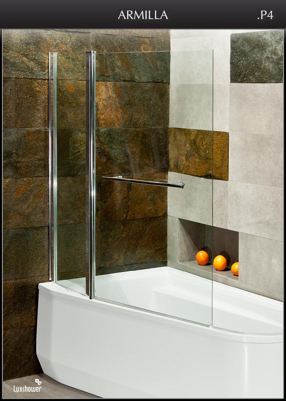 luxshower armilla s 126x140 trennwand badewanne. Black Bedroom Furniture Sets. Home Design Ideas