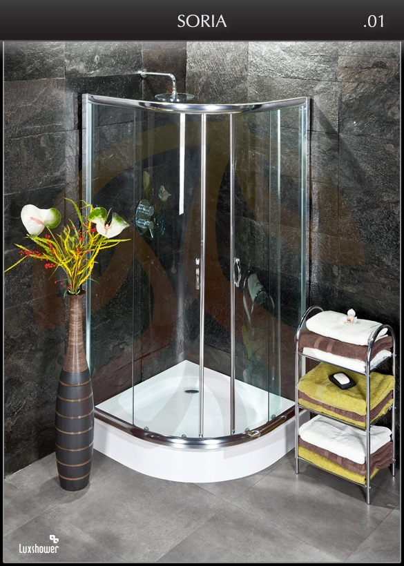 duschkabine dusche mit duschwanne luxshower soria 90x90x185 ebay. Black Bedroom Furniture Sets. Home Design Ideas