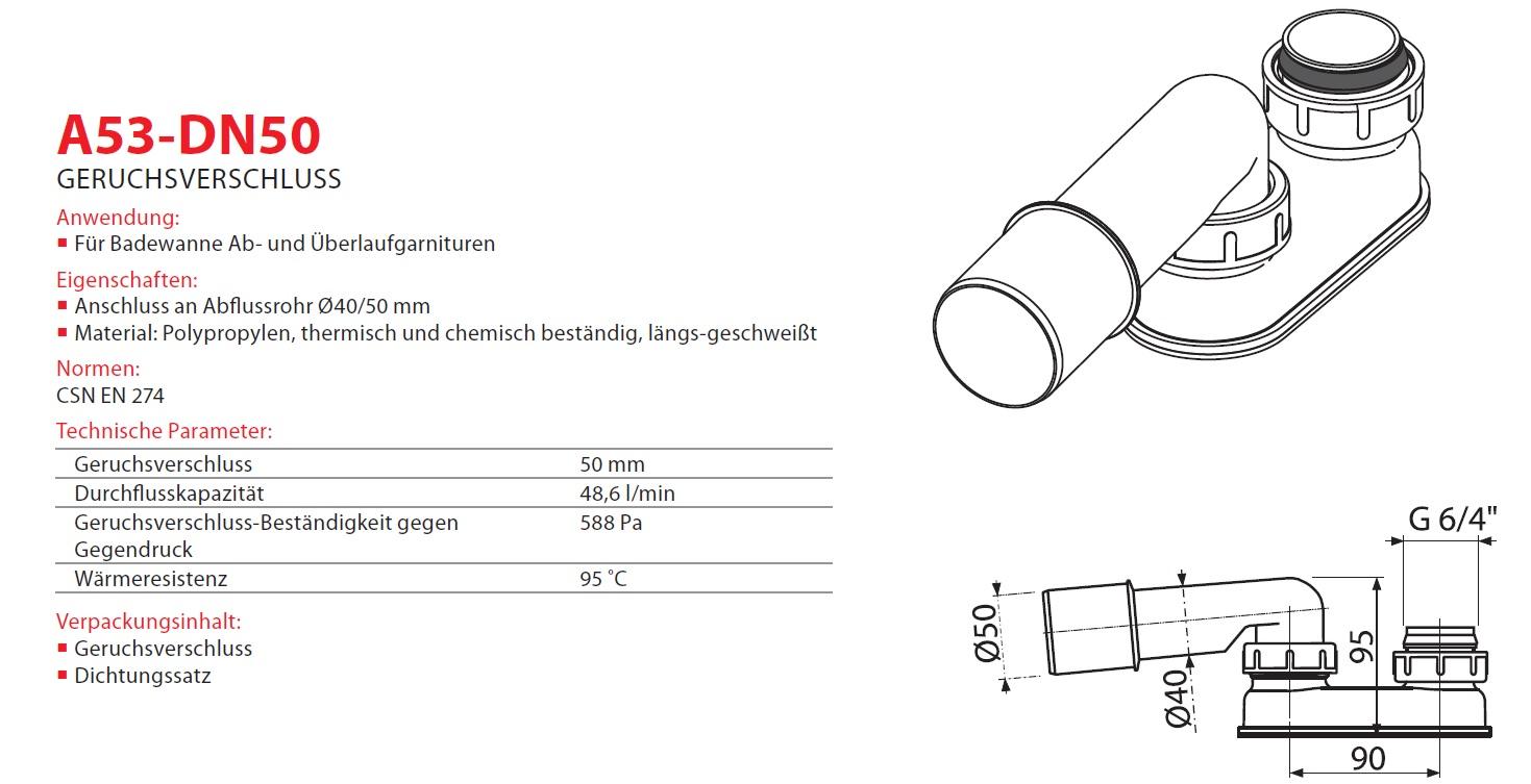 geruchsverschluss dn 40 50 badewanne siphon sifon syfon extra flach flachsiphon ebay. Black Bedroom Furniture Sets. Home Design Ideas