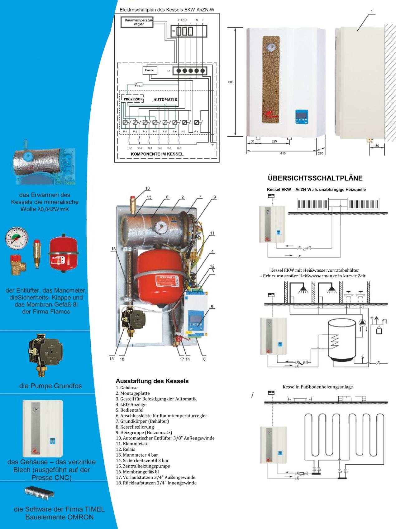 Sicherheitsventil Rückschlagventil BSZ 6 Hajdu Tatramat Warmwasser Speicher