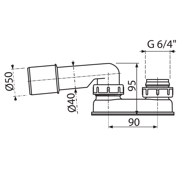 geruchsverschluss f r ab berlaufgarnitur dn 50 badewanne siphon sifon syfon ext ebay. Black Bedroom Furniture Sets. Home Design Ideas