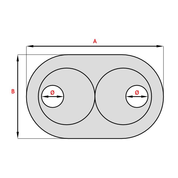abdeck doppelrosetten 10 stk f r heizungsrohr kupferrohr. Black Bedroom Furniture Sets. Home Design Ideas