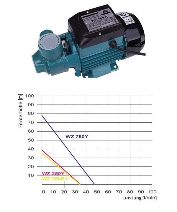 250W Druckerh/öhungspumpe 220V 1in Wasserpumpe Automatische selbstansaugende Haushalts-Warmwasserbereitung mit kaltem Wasser