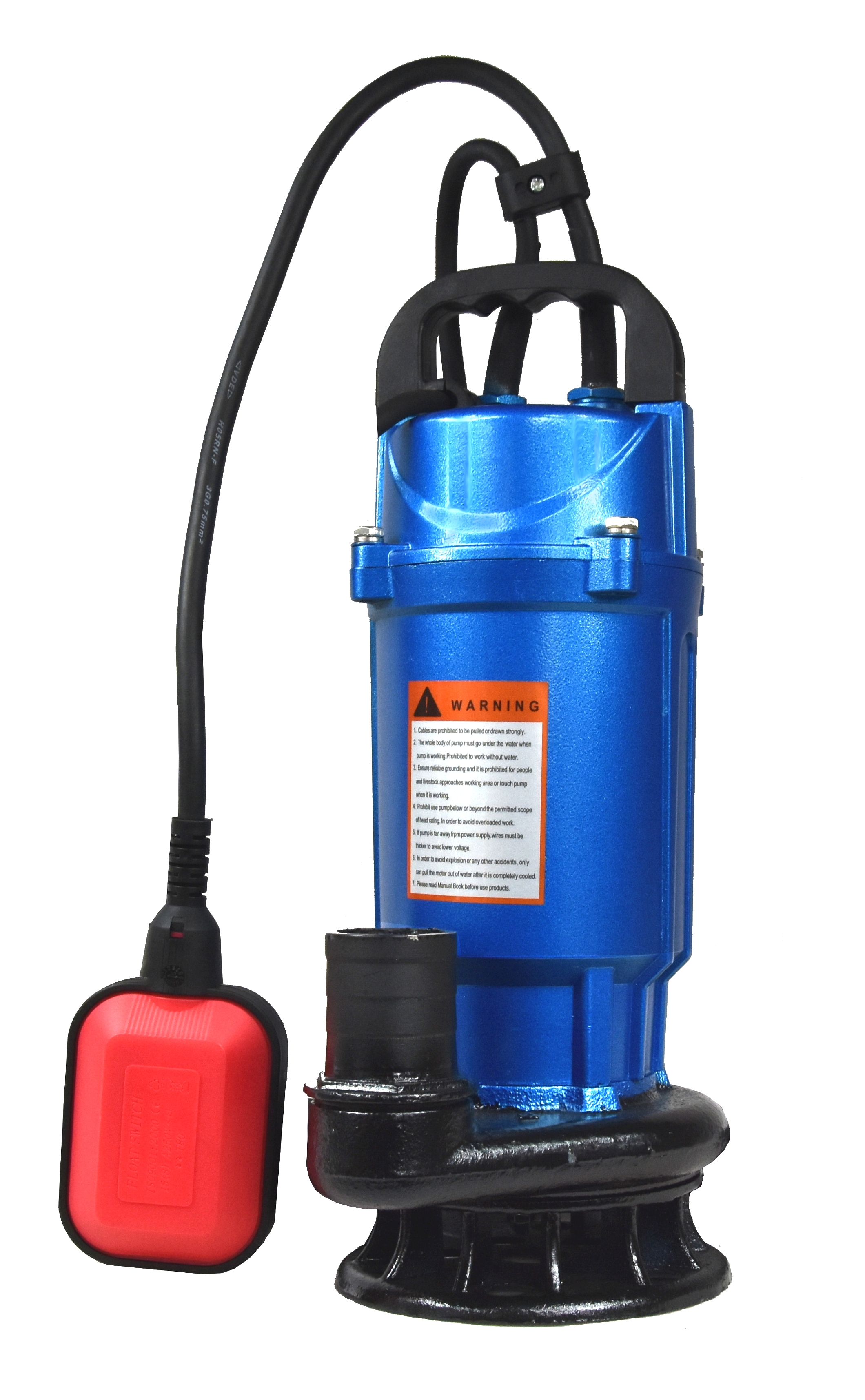 Fäkalienpumpe Schmutzwasserpumpe 750 W 27000 L//Std Tauchpumpe Schwimmerschalter